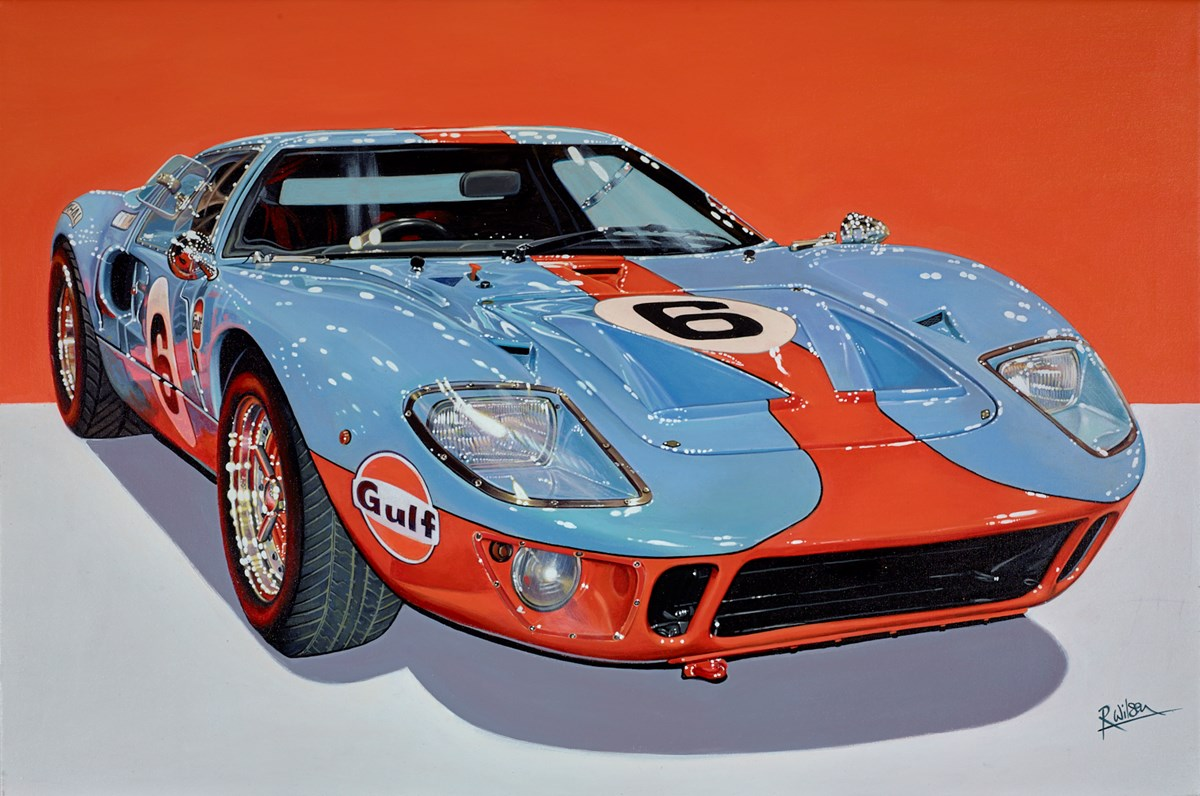 1967 Ford GT40 by roz wilson -  sized 36x24 inches. Available from Whitewall Galleries
